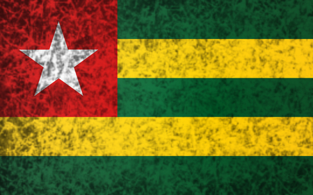 togo: Flag of Togo in grunge style.