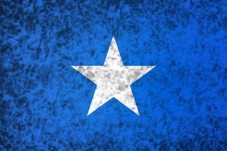 somalia: Flag of Somalia in grunge style. Stock Photo