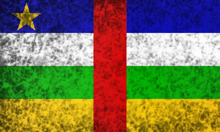 central african republic: Flag of Central African Republic in grunge style.