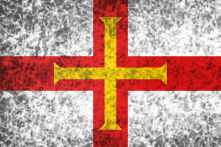 old flag: Flag of Guernsey in grunge style. Stock Photo