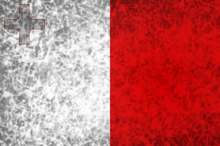 malta: Flag of Malta in grunge style.