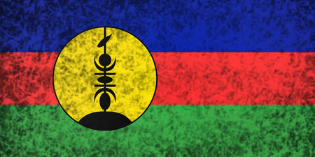 new caledonia: Flag of New Caledonia in grunge style. Stock Photo