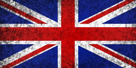 spangled: Flag of the United Kingdom in grunge style. Stock Photo