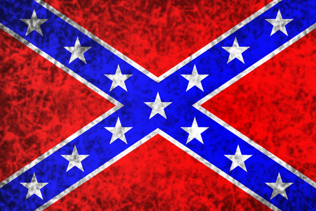 National flag of the Confederate States of America in grunge style.