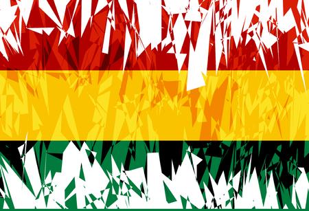 bolivia: Flag of Bolivia in grunge style. Vector illustration. Illustration