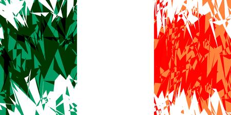 ireland flag: Flag of Ireland in grunge style. Vector illustration.