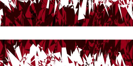 carmine: Flag of Latvia in grunge style. Vector illustration.