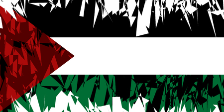 ancient near east: Flag of Palestine in grunge style. Vector illustration.