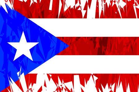 bandera de puerto rico: Flag of Puerto Rico in grunge style. Vector illustration.