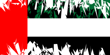 ancient near east: Flag of United Arab Emirates in grunge style. Vector illustration.
