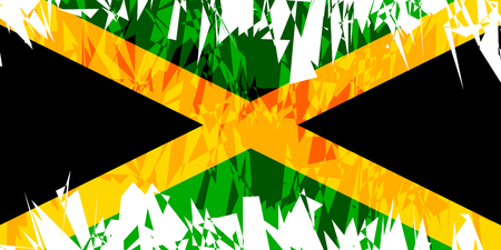 jamaica: Flag of Jamaica in grunge style. Vector illustration.