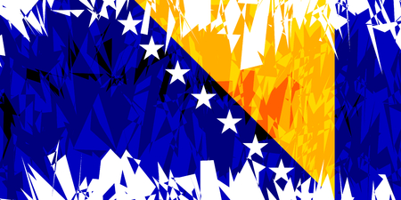 bosnia: Flag of Bosnia and Herzegovina in grunge style.. Vector illustration. Illustration