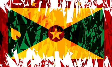 grenada: Flag of Grenada in grunge style. Vector illustration. Illustration
