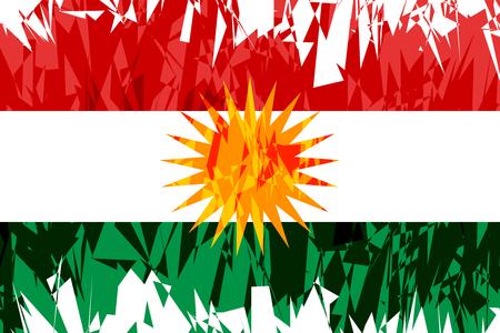 liberation: Flag of Kurdistan in grunge style. Vector illustration. Illustration