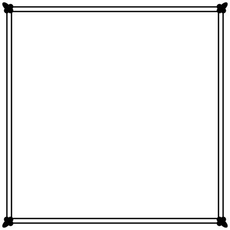 simple: Simple ornamental decorative frame. Illustration