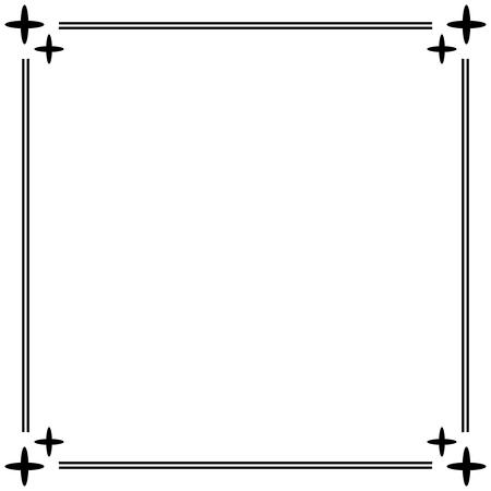 simple frame: Simple ornamental decorative frame. Illustration