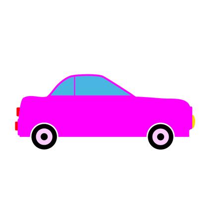 Car icon on white background.  Illustration