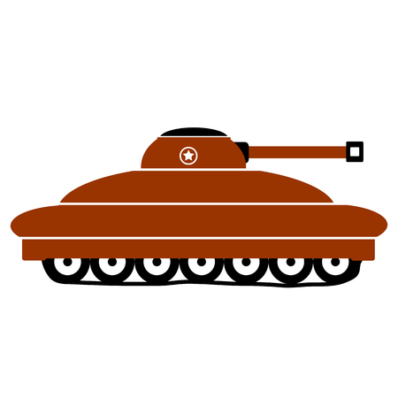 turret: Panzer icon on white background