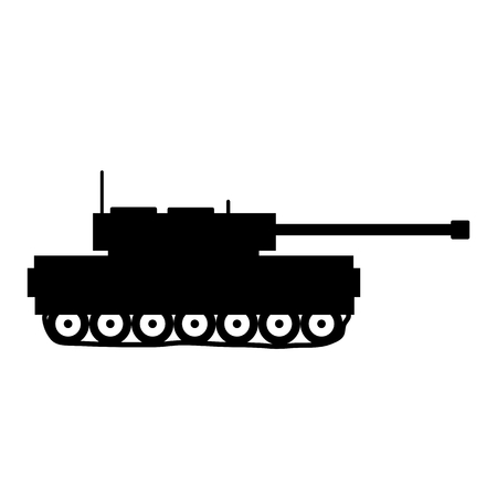 Panzer: Panzer icon on white background. Vector illustration.