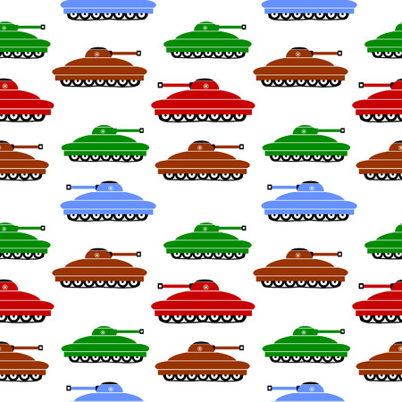 Panzer: Panzer icons on white background, seamless pattern.