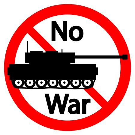 No war sign on white background. Vector illustration.