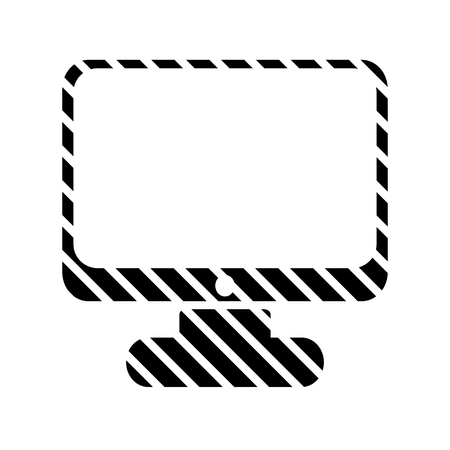 computer button: Computer button on white background. Vector illustration.