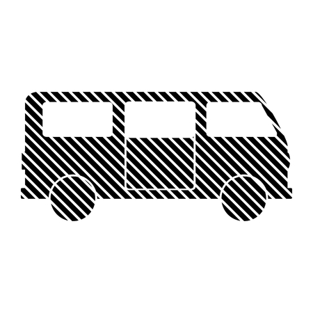 passage: Minibus sign on white background. Vector illustration. Illustration