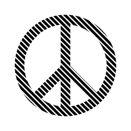 pacifism: Peace symbol sign on white background. Vector illustration.