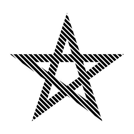 pentacle: Pentagram sign on white background. Vector illustration.
