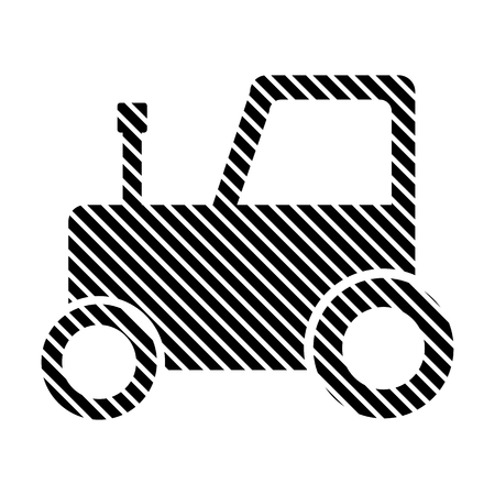 tractor sign: Tractor sign on white background. Vector illustration.