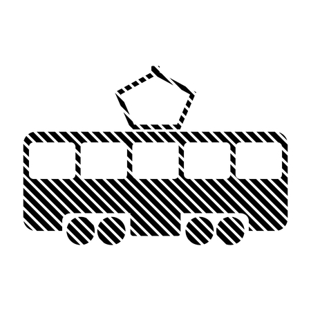 Tram sign on white background. Vector illustration.