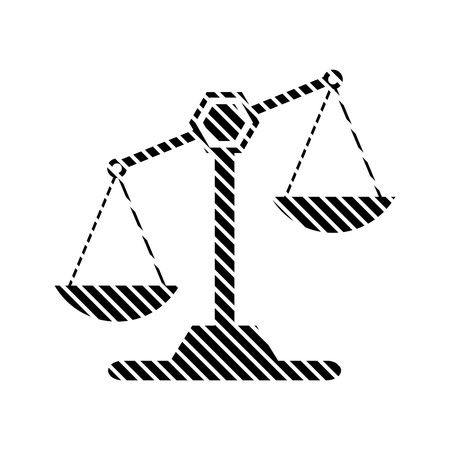 acquittal: Scale sign on white background. Vector illustration. Illustration