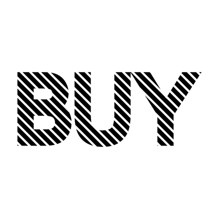 acquire: Buy sign on white background. Vector illustration.