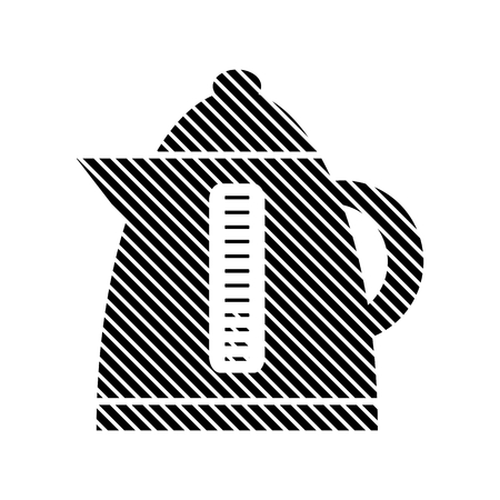electric kettle: Electric kettle sign on white background. Vector illustration.