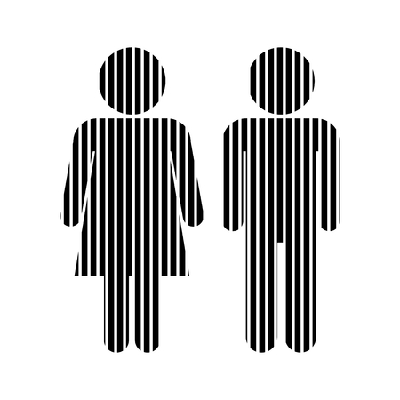 genders: Male and Female sign on white background. Vector illustration. Illustration