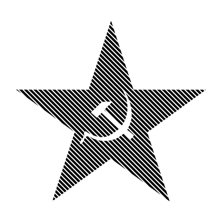 communism: Communism star sign on white background. Vector illustration.