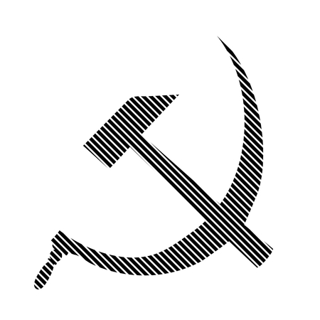 hammer and sickle: Hammer and sickle sign on white background. Vector illustration.