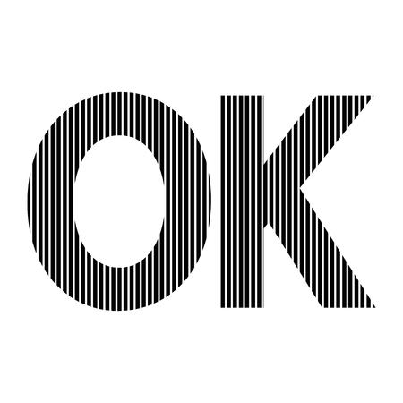 affirmative: Ok sign on white background. Vector illustration.