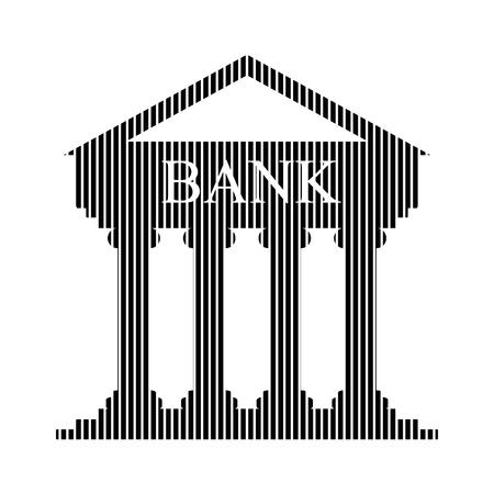 depository: Bank sign on white background. Vector illustration. Illustration