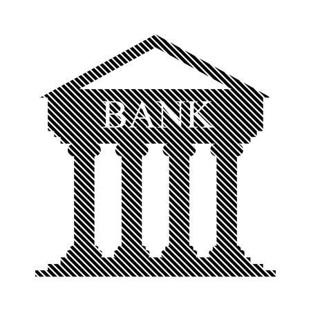 Bank sign on white background. Vector illustration. Illustration