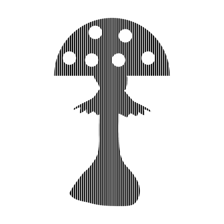 inedible: Amanita sign on white background. Vector illustration.