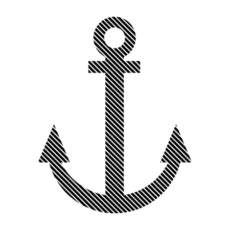anchored: Anchor sign on white background. Vector illustration.