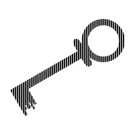 lockout: Key sign on white background. Vector illustration.