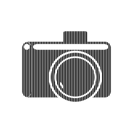 Camera sign on white background. Vector illustration. Illustration