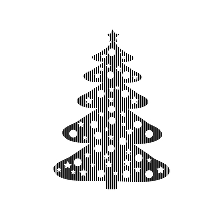christmas tree illustration: Christmas Tree sign on white background. Vector illustration. Illustration