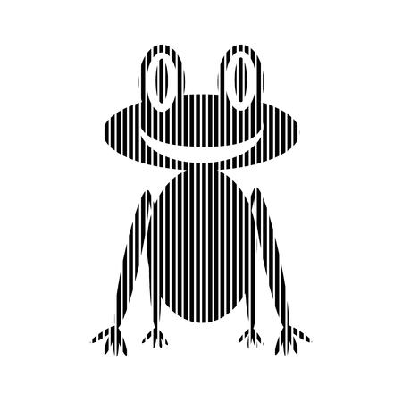 animals amphibious: Frog sign on white background. Vector illustration.