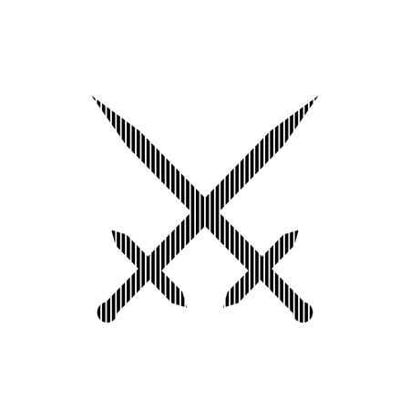 crossed swords: Crossed swords sign on white background. Vector illustration.