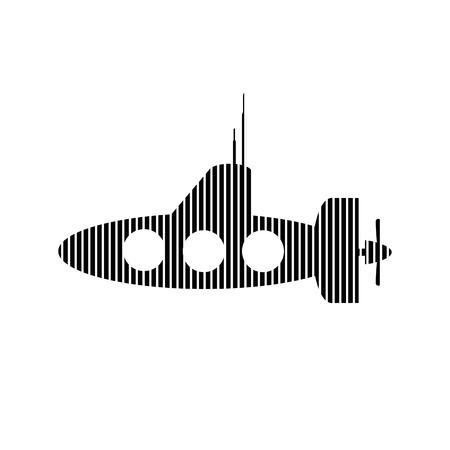 periscope: Submarine icon on white background. Vector illustration.