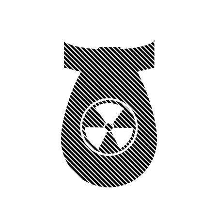 bombshell: Bomb sign on white background. Vector illustration. Illustration