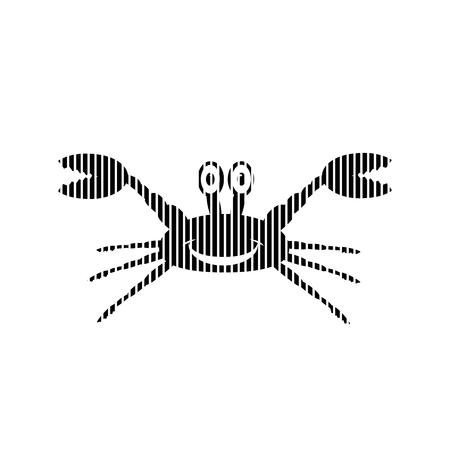 arthropoda: Crab sign on white background. Vector illustration.